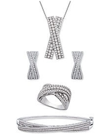 Diamond Crossover Jewelry Collection in Sterling Silver, Created for Macy's