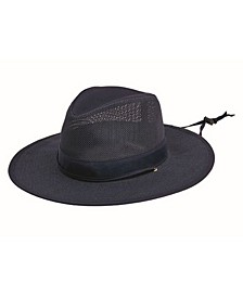 Men's Mesh Safari Hat with Chin Cord
