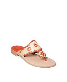 Women's Jacks Rattan Flat Sandal