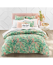 Tropical Leaves Duvet Collection, Created for Macy's