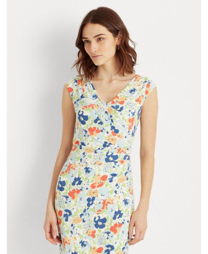 Lauren Ralph Lauren Petite Floral Pleated Jersey Dress & Reviews - Dresses - Petites - Macy's
