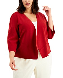 Plus Size Cozy Open-Front Cardigan, Created for Macy's