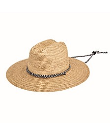 Men's Kwai Braided Straw Lifeguard Hat