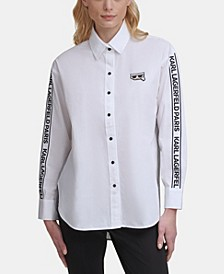 Striped Logo Taped Shirt