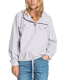 Juniors' Wander Free Cotton Hooded Popover Jacket