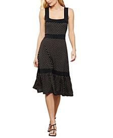 Dotted Knit Midi Dress