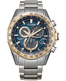 Eco-Drive Men's Chronograph PCAT Two-Tone Stainless Steel Bracelet Watch 43mm