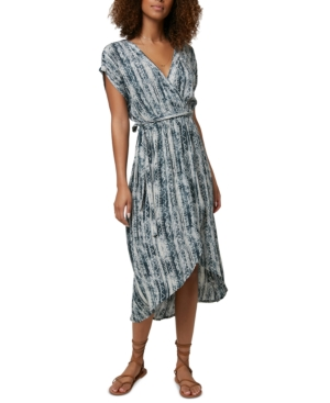 O'neill Juniors' Anna Bungalow Wrap Dress In Gray