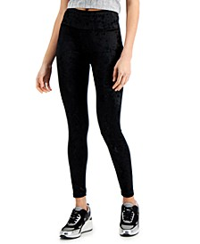 Women's Crushed Velvet Leggings, Created for Macy's