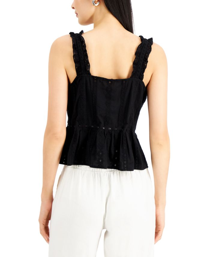 INC International Concepts INC Cotton Lace Camisole, Created for Macy's & Reviews - Tops - Women - Macy's