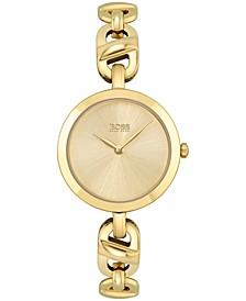 Women's Chain Gold-Tone Stainless Steel Bracelet Watch 28mm