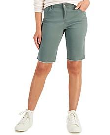 Petite Stretch Twill Bermuda Shorts, Created for Macy's