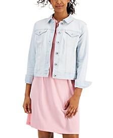 Petite Light-Wash Denim Jacket, Created for Macy's