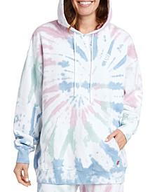 Juniors' Cotton Tie-Dyed Hoodie