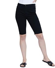 Raw Hem Bermuda Jean Shorts
