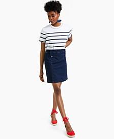 Denim Tummy Control Sailor Skirt, Created for Macy's