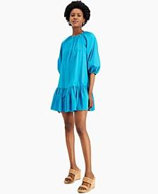 INC Button-Neck Mini Dress, Created for Macy's
