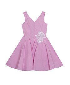 Big Girls Embroidered Dress