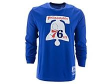Men's Philadelphia 76ers Retro Logo Long-Sleeve T-Shirt