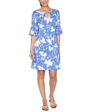 Ruby Rd. PETITE FLORAL-PRINT DRESS