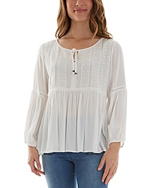 Juniors' Babydoll Top