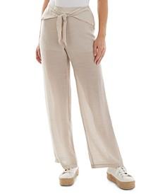 Juniors' Tie-Front Pants