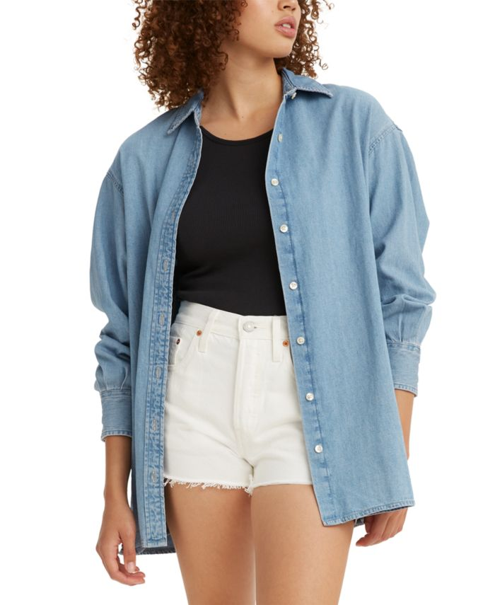Levi's Quinn Cotton Plaid Shirt & Reviews - Tops - Juniors - Macy's
