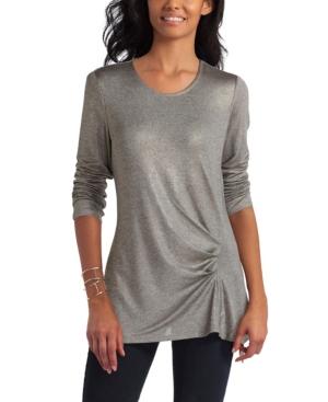 Women's Pleated Asymmetrical Pullover