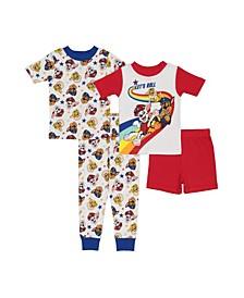 Toddler Boys 4 Piece Cotton Pajama Set