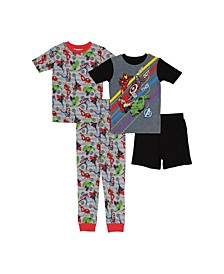 Big Boys 4 Piece Cotton Pajama Set