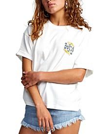 Juniors' Cotton Graphic-Print T-Shirt
