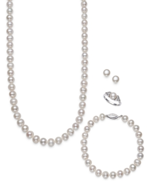 4-Pc. Set Cultured Freshwater Pearl (7-8mm) Necklace