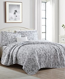 Branch Toile King Quilt Set