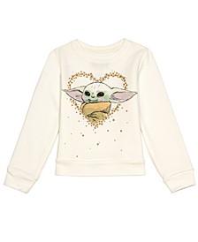 Little Girls Star Wars Baby Yoda Long Sleeve Fleece Top