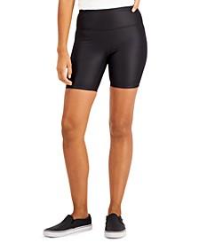 INC Shiny Compression Bike Shorts, Created for Macy's