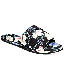 Women's Floral-Print Slide Slippers, Created for Macy's