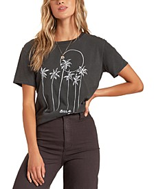Juniors' Mas Palms Cotton T-Shirt