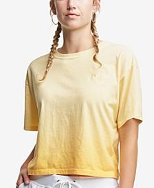 Plus Size Cropped Ombré T-Shirt