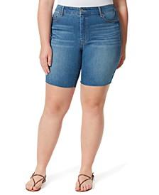 Trendy Plus Size Adored Slim Bermuda Shorts