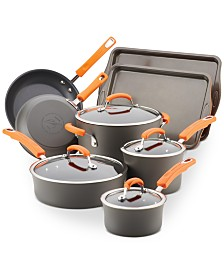 Hard-Anodized Nonstick 12-Pc. Cookware Set