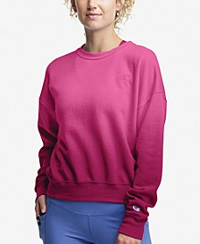 Plus Size Ombré Fleece Sweatshirt