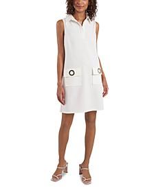 Scuba Crepe Grommet Pocket Dress