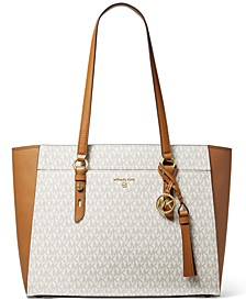 Sullivan Large Signature Multifunction Top-Zip Tote