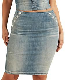 Gwenda Sailor-Style Denim Skirt