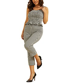 Rihana Smocked Gingham Top & Steph Gingham Pants