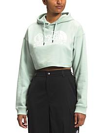 Women's Coordinates Crop Drop Pullover Hoodie