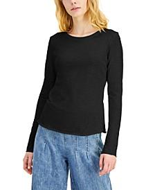 INC Petite EARTH Crewneck T-Shirt, Created for Macy's