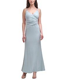 Metallic Knit Mermaid Gown