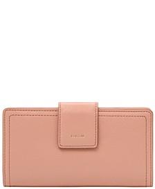 Logan Leather RFID Tab Clutch Wallet