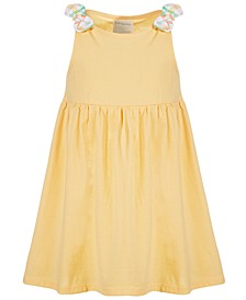 Baby Girls Sunny Yellow Cotton Dress, Created for Macy's